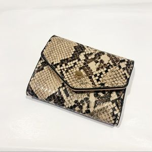 A new day mini snakeskin wallet